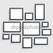 Picture Frame On Wall by Picture Frames Vector Photo Art Gallery Dark Blank Collection On