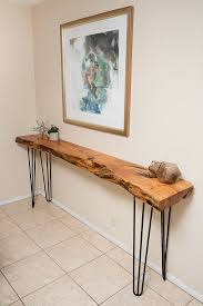 hairpin leg console table custom 7 5ft mesquite live edge buffet console table with hairpin