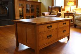 solid oak mission style coffee table mission coffee tables craftsman arts and crafts stickley style table