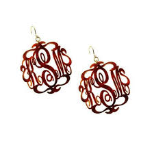 monogram earrings monogram earrings moon and lola