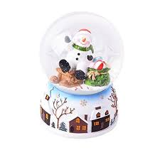 snowflake table top decorations lightahead christmas snow water globe with falling snowflakes