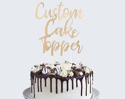 personalized cake topper custom cake topper etsy