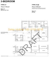 Plan 3 by Forest Woods Condo Lor Lew Lian Cdl Showflat 65 6100 1380
