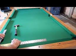 how to refelt a pool table video installing pool table rails youtube