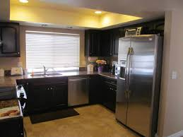 How To Decorate Kitchen Black Kitchen Cabinets With Black Appliances Caruba Info