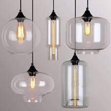 Glass Pendant Lighting For Kitchen Islands Fascinating Glass Hanging Lights 109 Clear Glass Pendant Lights