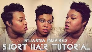 rihanna inspired short hair tutorial youtube