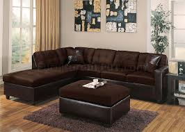 Reversible Sectional Sofa Modern Sectional Sofa 10100 Chocolate