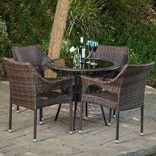 wicker 5 piece patio furniture sets amazon com