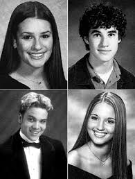 high school yearbook search glee s high school yearbook photos instyle