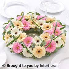sunday flower delivery pastel germini decorative ring flower delivery liverpool florist