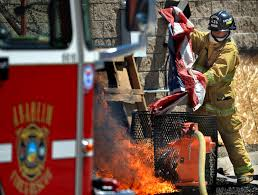 Burning A Flag Behind The Badge Anaheim Fire U0026 Rescue Joins Veterans In Holding