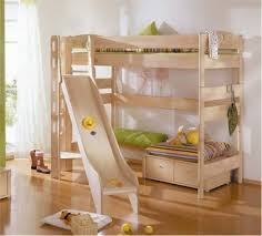 creative kids bunk beds with slide for kids bedroom decorating