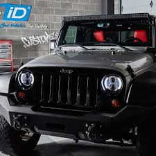 Led Lights For Jeeps Jeep Wrangler Halo Lights Jeep Car Show