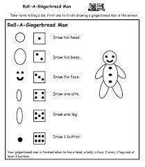 roll a gingerbread man printable game a to z teacher stuff