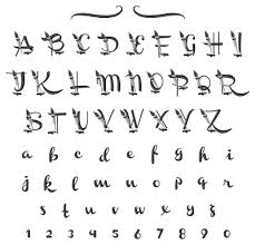 calligraphy font calligraphy font embroidery font annthegran