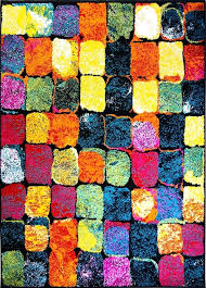 Modern Colorful Rugs Colorful Area Rug Elkar Club