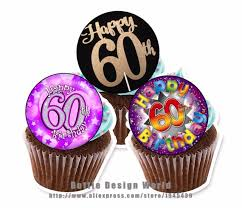 edible cake topper 24 60th birthday edible cake topper wafer rice paper cake cookie