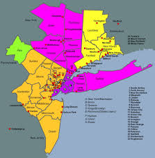 map of nyc areas map of new york metro area major tourist attractions maps