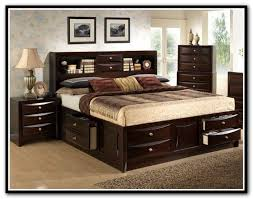Bookcase Headboard King King Size Storage Headboard Home Design Ideas