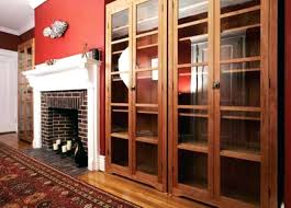 Solid Wood Bookcases With Glass Doors Mission Style Solid Wood Bookcase Bookcase Mission Style Bookcase