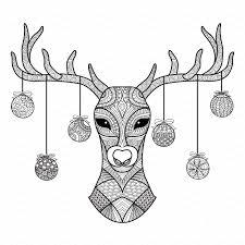 christmas deer christmas zendoodle deer illustrations creative market