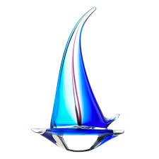 sailboat art glass statue wholesale at koehler home decor