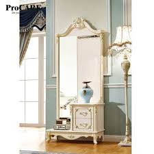 chambre avec miroir luxe européen et américain style dressing miroir avec tiroir pour