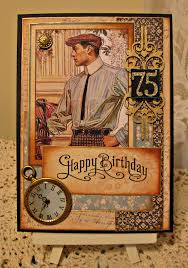 masculine 75th birthday card scrapbook com great inspiration