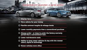 audi cpo lease benefits of buying vs leasing a audi car audi kirkwood