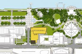 building site plan completed abc hq broadcasting centre southbank studios and