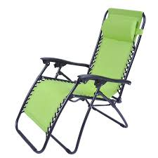 zero gravity recliner lounge patio pool chair lime green