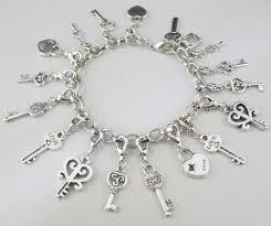 charm bracelet chain silver images Tibetan silver lock key charm bracelet chain bracelet in chain jpg