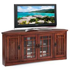 mission style corner tv cabinet kd furnishings mission oak hardwood 60 inch corner tv stand brown