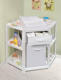 White Changing Tables For Nursery Badger Basket Corner Baby Changing Table With