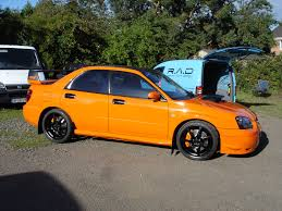 orange subaru impreza reflex auto design