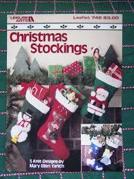 usa free s u0026h 5 vintage christmas stocking knitting patterns santa