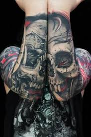 amazing skull tattoos sick skull forearm tattoo tattoos ink insane amazing awesome