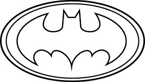 coloriage logo batman à imprimer sur coloriages info