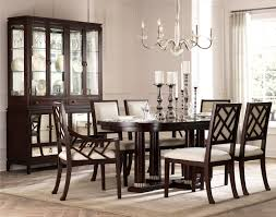 Broyhill Mission Style Bedroom Furniture Furniture Charming Dining Chairs In Brown Wooden With White Seat
