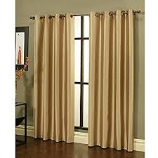 Standard Window Curtain Lengths Amazon Com Gorgeous Home 34 1 Panel Solid Dark Gold 84