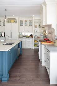 unbelievable blue and off white kitchen cabinets dazzling two tone