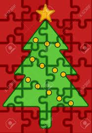 tree jigsaw puzzle lights decoration