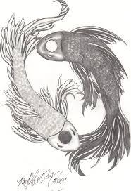 yin yang koi fish by gothcat0522 on deviantart