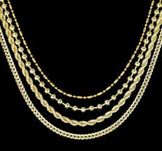 gold plated bead necklace images Hip hop 4 chain set 14k gold plated bead rope franco cuban jpg