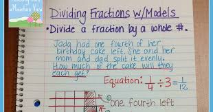 dividing a whole number by a fraction teaching with a mountain view dividing fractions anchor chart
