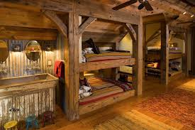 Log Bunk Bed Plans Cabin Bunk Bed Ideas Rustic With Timber Accents Wood Floors