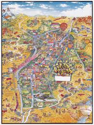 Map Las Vegas by Large Detailed Tourist Illustrated Map Of Las Vegas Vidiani Com