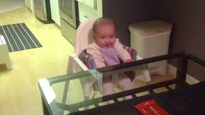 Ikea Antilop High Chair Tray Baby On Ikea High Chair For The First Time Youtube