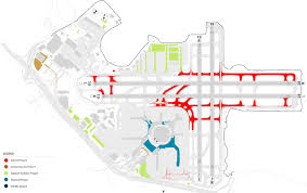 San Francisco International Airport Map by Master Planning U0026 Strategy Landrum U0026 Brown Master Planning